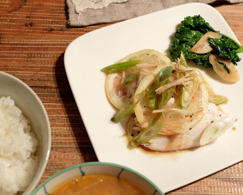 白身魚のレモン焼き3