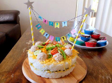 寿司ケーキの作り方